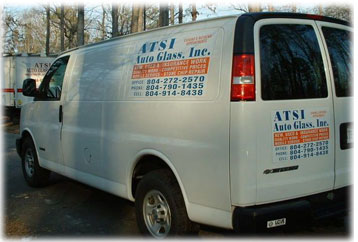 richmond auto glass service van